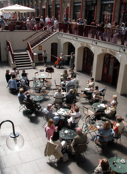 Cafe at Covent Garden London