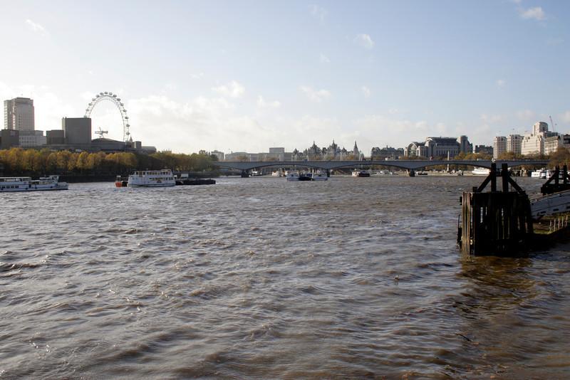 River Thames and Waterloo Bridge London