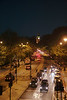 Traffic on the Victoria Embankment London at night June 2012