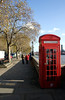 English red telephone box Victoria Embankment London