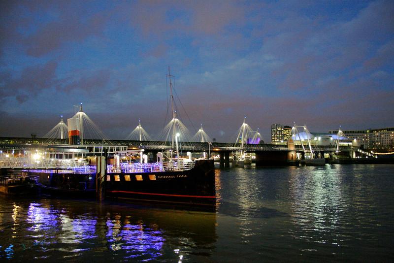 Hungerford Bridge at night London