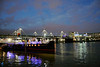 Hungerford Bridge at night London