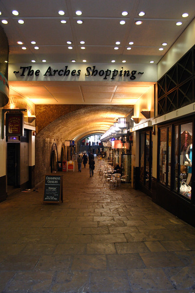 The Arches Shopping Mall Embankment London