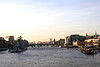 River Thames skyline London view from Tower Bridge