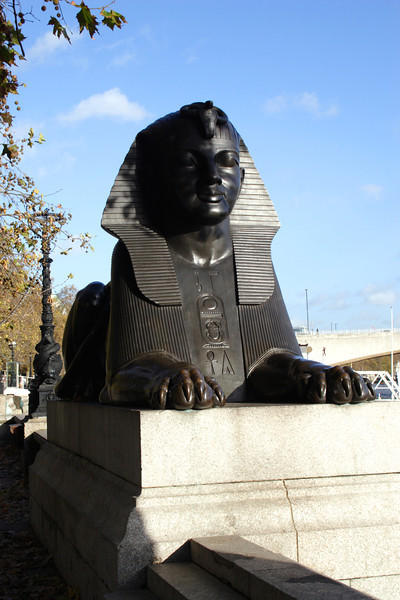 Sphinx at Cleopatras Needle London