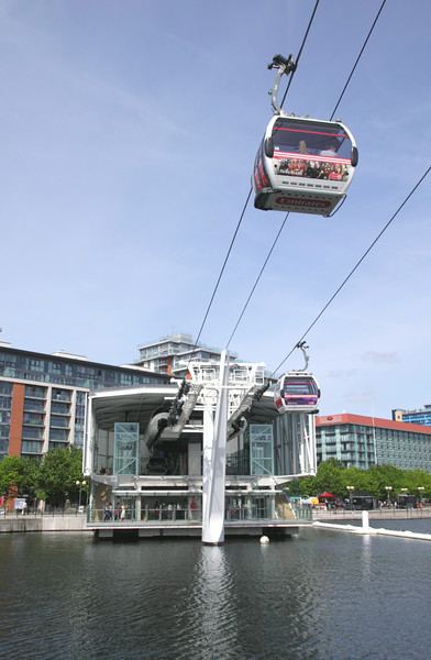 Emirates Air Line Royal Docks Cable Car Terminal London