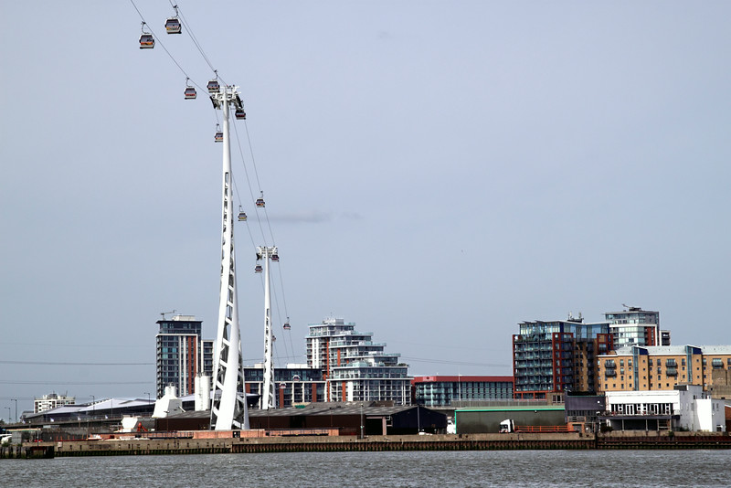 Emirates Air Line Cable Car across the River Thames London