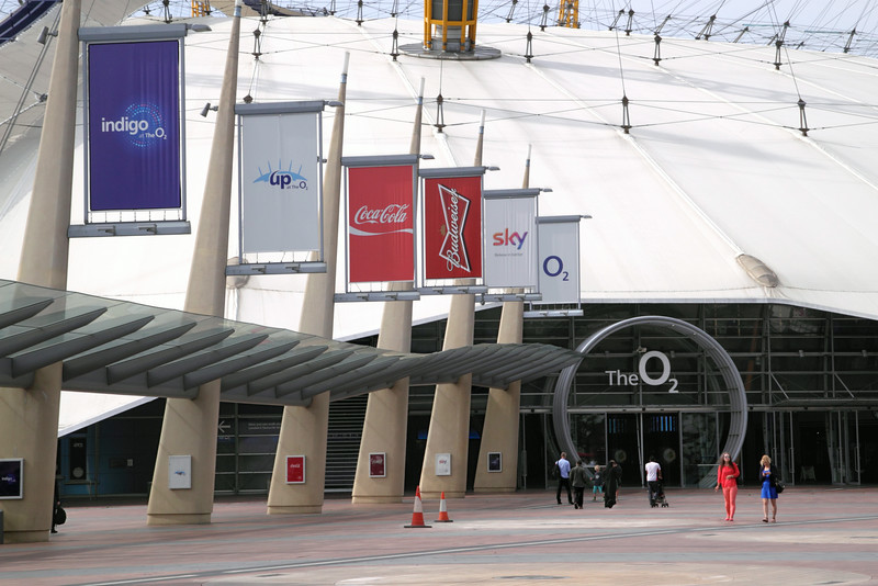 Entrance to O2 Arena Greenwich Peninsula London