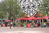 Cafe Rouge in front of Ravensbourne College Building Greenwich Peninsula London