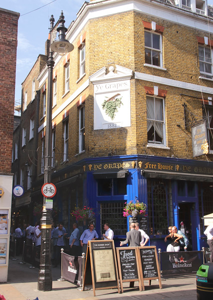Ye Grapes Pub at Shepherd Market Piccadilly London summer 2016