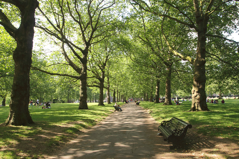 Green Park Piccadilly London summer 2016