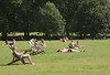 Sunbathing at Green Park London during the July 2016 heatwave