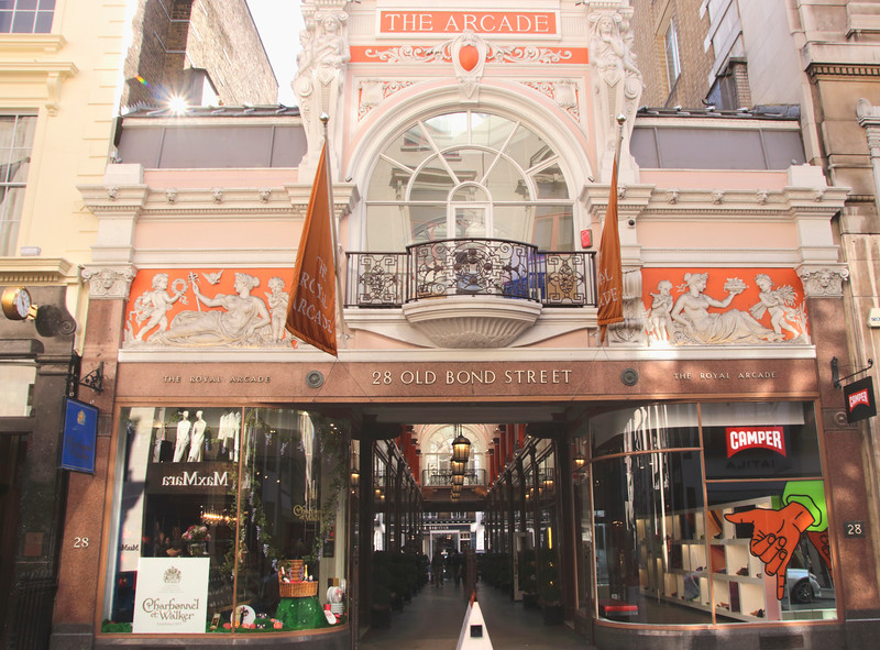 Entrance to Royal Arcade Piccadilly London