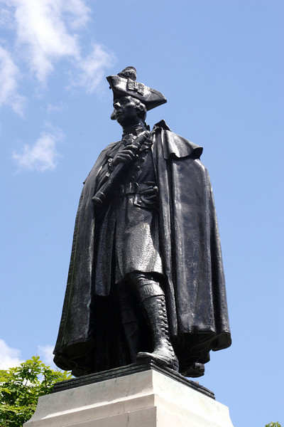 Statue of General James Wolfe at Greenwich Park London