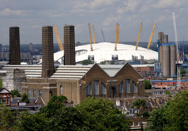 Millenium Dome London viewed from Greenwich