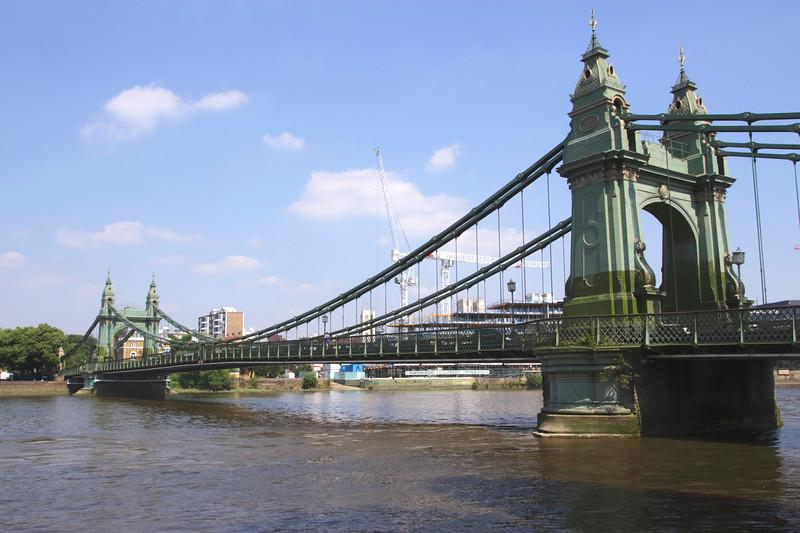 Hammersmith Bridge and River Thames London