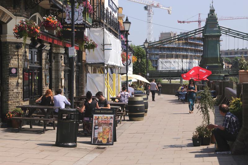 Riverfront at the Rutland and Blue Anchor Pub Hammersmith London