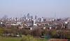 London skyline view from Parliament Hill Hampstead Heath