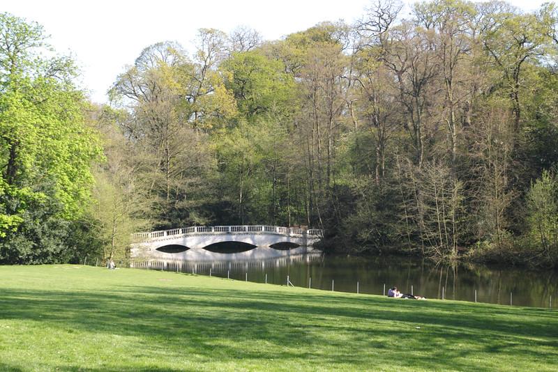 Stone Bridge at Wood Pond Hampstead Heath London
