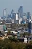 London city skyline view from Parliament Hill Hampstead Heath