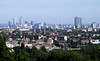 London city skyline view from Parliament Hill Hampstead Heath June 2010
