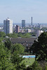 London skyline view from Parliament Hill Hampstead Heath June 2010
