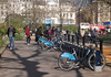 Bikes for hire at Speakers Corner Hyde Park London