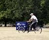 Ice cream salesman on tricycle Kensington Gardens London