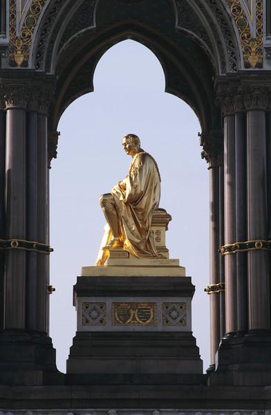 Closeup Albert Memorial Kensington Gardens London