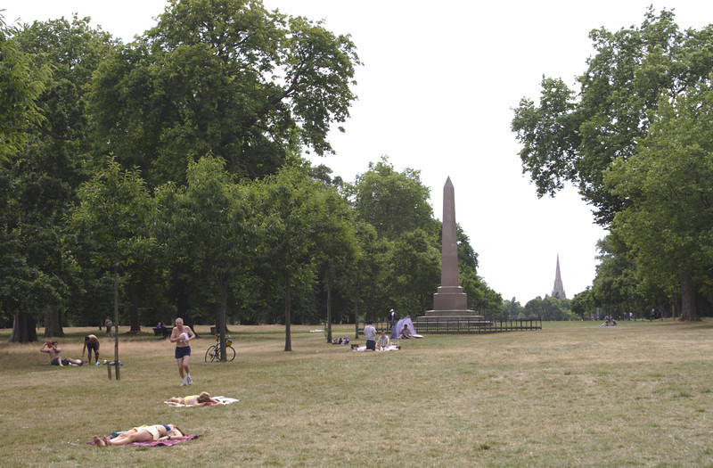 Sunbathing in Kensington Gardens London