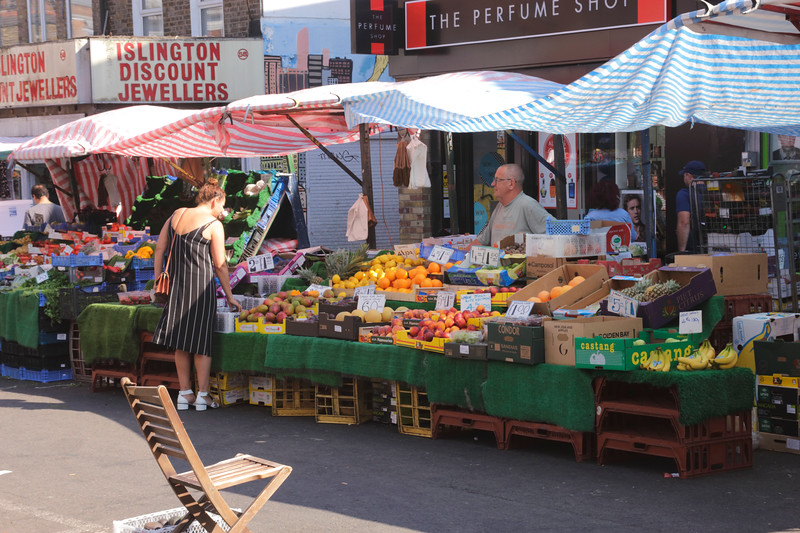 Fruit stall at Chapel Market Islington London