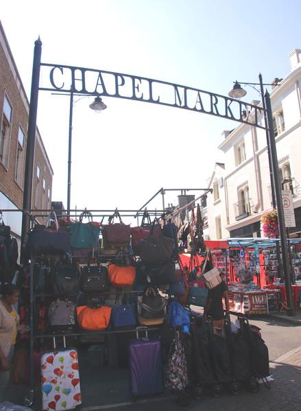Entrance to Chapel Market Islington London
