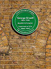 Plaque at George Orwell ex residence Canonbury Square Islington London