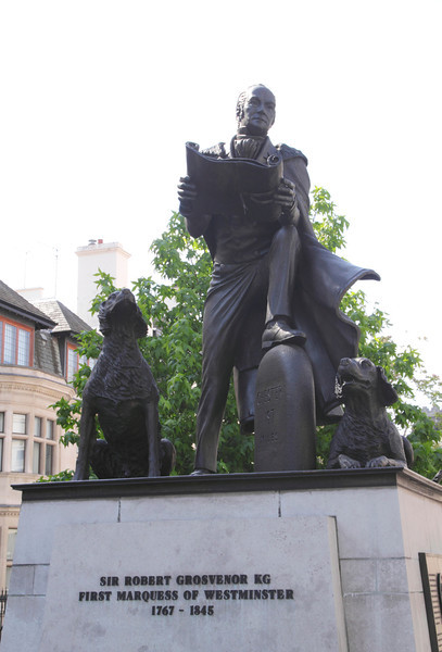 Statue of Sir Robert Grosvenor Belgrave Square London