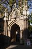 Entrance Gate to St Marys Abbots Church Kensington London