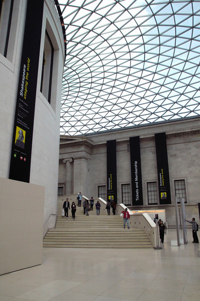 The Great Court inside The British Museum London