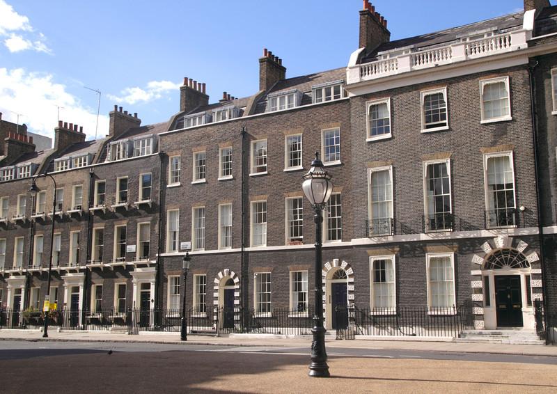 Terraced houses Bedford Square Bloomsbury London