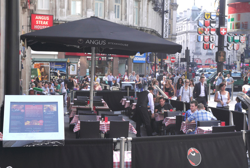Angus Steakhouse Leicester Square London August 2013