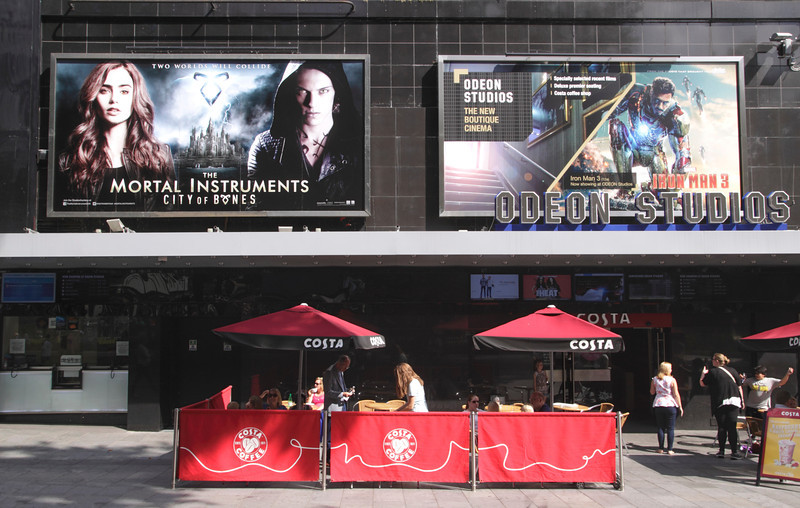 Odeon Studios new boutique cinema in Leicester Square London August 2013