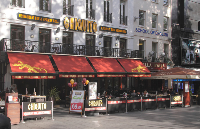 Chiquito Mexican restaurant bar Leicester Square London