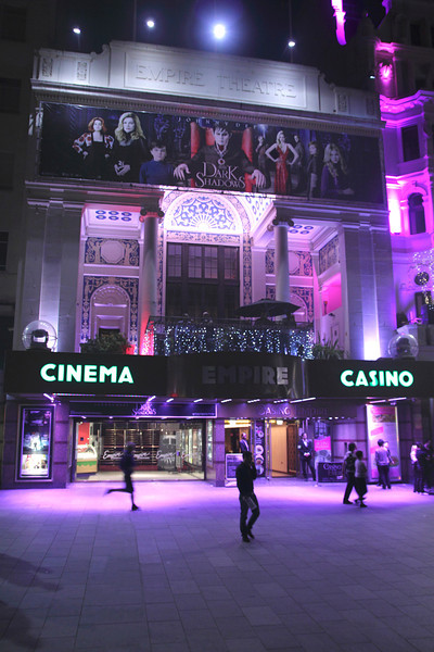 Empire Leicester Square London at night May 2012