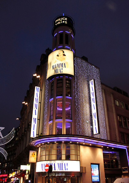 Mama Mia showing at the Prince of Wales Theatre London Christmas 2009