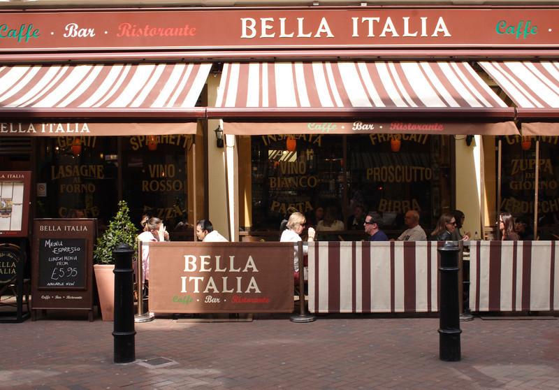 Bella Italia Restaurant Irving Street off Leicester Square London April 2009