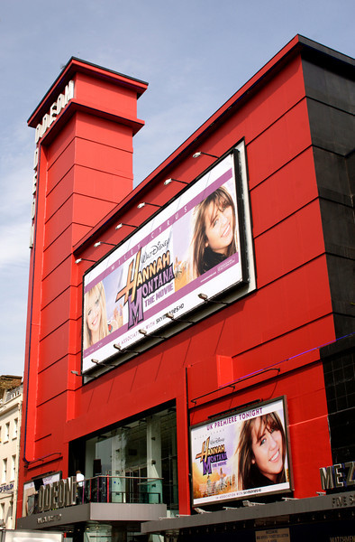 UK Premiere of Hannah Montana movie at Odeon Leicester Square London 23 April 2009