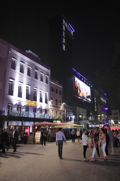Leicester Square London at night May 2012
