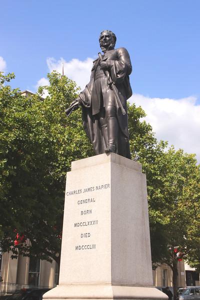 Charles James Napier statue Trafalgar Square London
