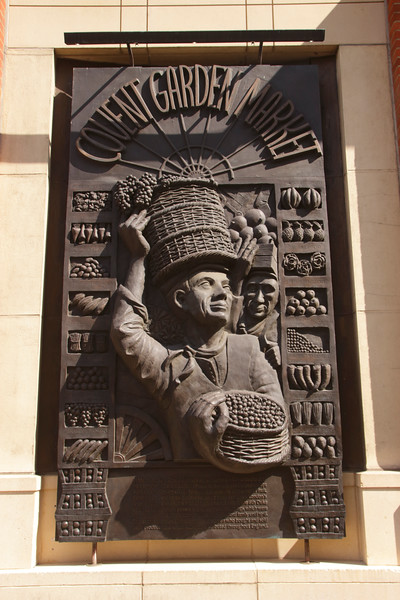 Covent Garden Market bronze relief sculpture London