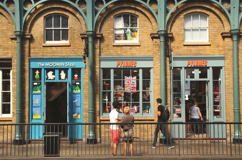 Shops inside Covent Garden Market London