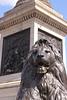 Base of Nelsons Column Trafalgar Square London