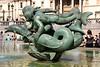 Mermaids and dolphin statue Trafalgar Square London
